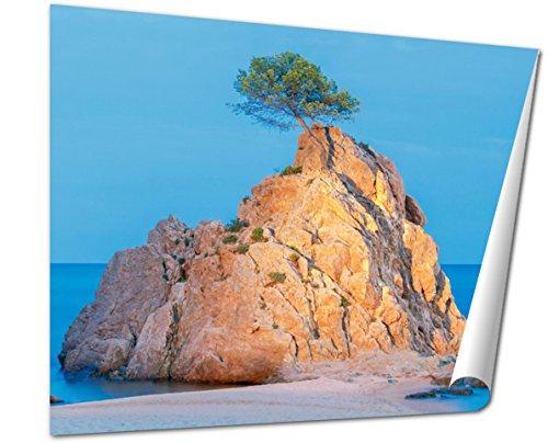 Ashley Giclee Tossa De Mar The Rock On The Shoreline, 20x25
