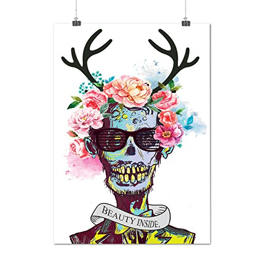 [Skull Flower Zombie Soul Costume Matte/Glossy Poster A3 (12x17 inches) | Wellcoda] (Costume National Soul)