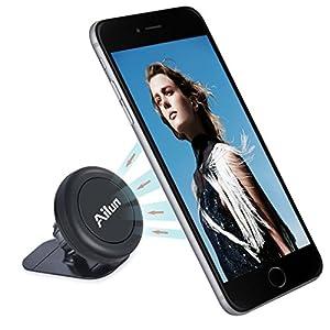 Car Phone Mount,Magnet Key Holder,by Ailun,[2Pack] Stick-on Dashboard Magnetic Car Mount Holder,for iPhone X,8/7/6/6s Plus,Galaxy S9/S9+,S7/S7 Edge,S6/S6 Edge+ and ALL Other Smartphones[Black]