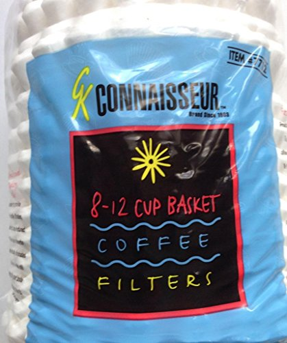 12 Pack Wholesale Lot Rockline Connaisseur 8-12 Cup Basket Coffee Filters, 8400 Coffee Filters Total