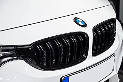 M3 Look Matte Black Kidney Euro Sport Front Hood Grill For BMW 3 Series F30  F31 12-
