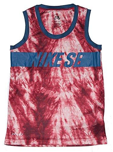 NIKE SB Boys Dri Fit Tank Top Team Red Blue Small by NIKE