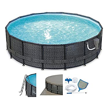 Summer Waves Elite 16' x 48 Above Ground Frame Pool Set (P4A01648B167)