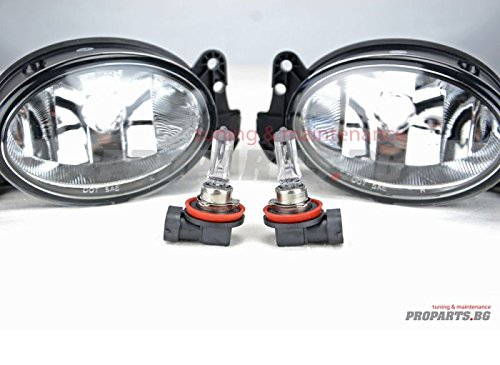 Proparts PROW211STFOG Fog Light Set Clear Glass Set with H11 Light Bulbs