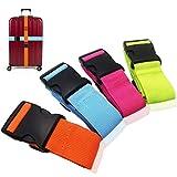 Luggage Straps Suitcase Belts Travel Accessories Bag Straps by Amison, 4 PCS