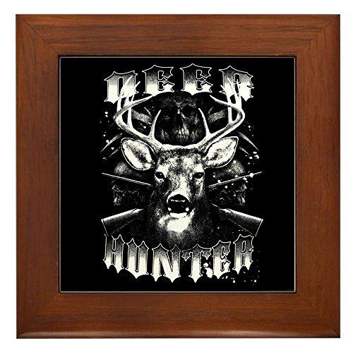 Deer Framed Tile - Framed Tile Deer Hunter Buck Rack and Rifles