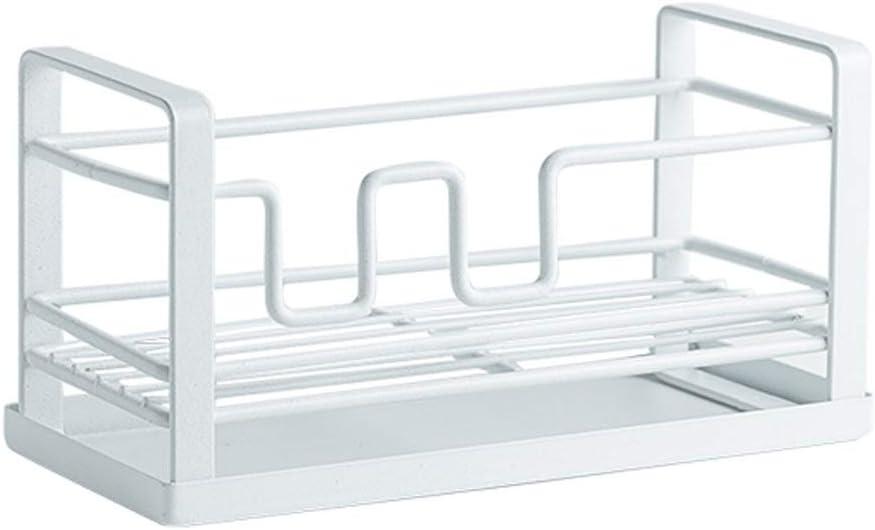 Esponja Rack de Almacenamiento de Drenaje, Estante de la Piscina, Fregadero de la Cocina, encimera, Cepillo, paño de Cocina, Rack de Almacenamiento (Color : White)