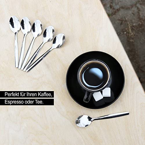 com-four® 6x Barlöffel aus Edelstahl - Longdrinklöffel - Lange Löffel für Latte Macchiato - Eislöffel - Cocktaillöffel (06 Stück - Longdrinklöffel)
