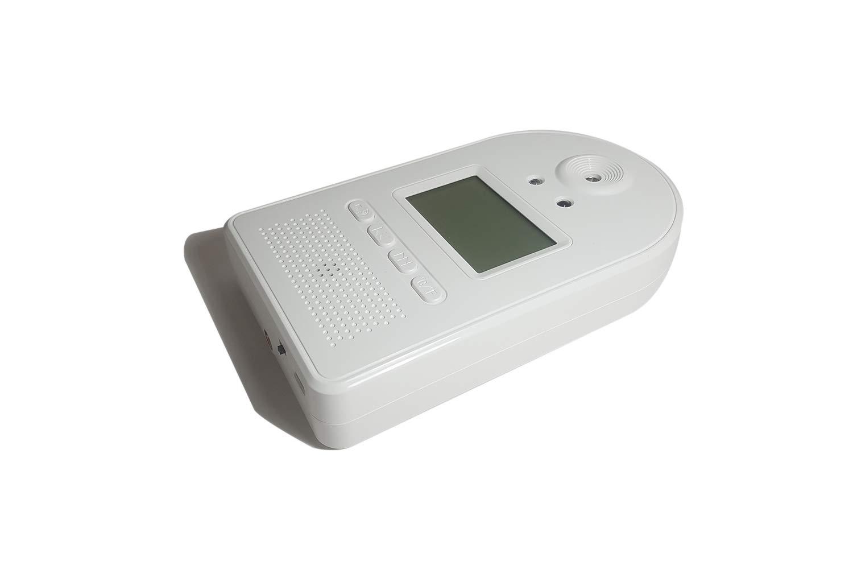 Term/ómetro infrarrojo de Pared sin contacto Gran precisi/ón F/ácil instalaci/ón Medici/ón autom/ática Amplia pantalla LCD Medici/ón en Celsius//Fahrenheit con sistema de alerta//alarma autom/ático