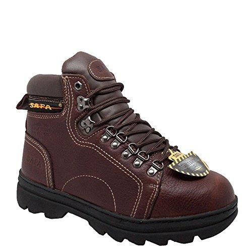 6 Inch Hiker (AdTec Mens Brown 6in Metatarsal Hiker Steel Toe Leather Work Boots 11.5 M)