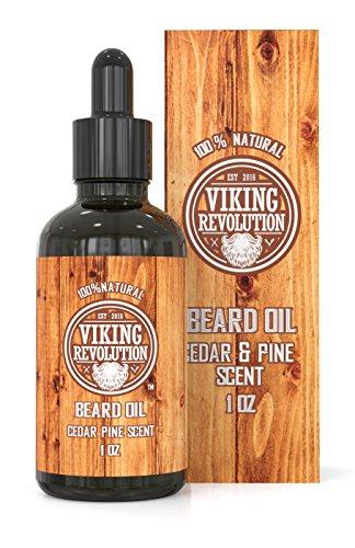 Beard Oil Conditioner - All Natural Cedarwood & Pine Scent with Organic Argan & Jojoba Oils - Softens & Strengthens Beards and Mustaches for Men (1 Pack) (Pine Scent Oil)