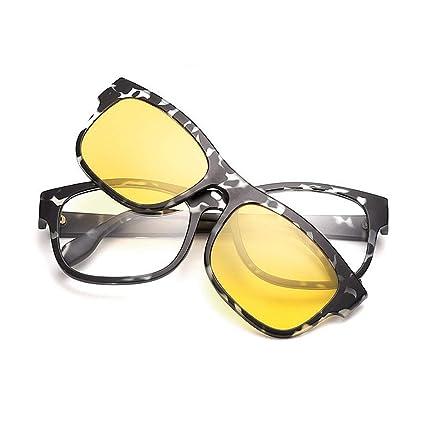 Gafas de sol polarizadas Gafas de sol retro unisex con lentes intercambiables para hombres Mujeres Lente