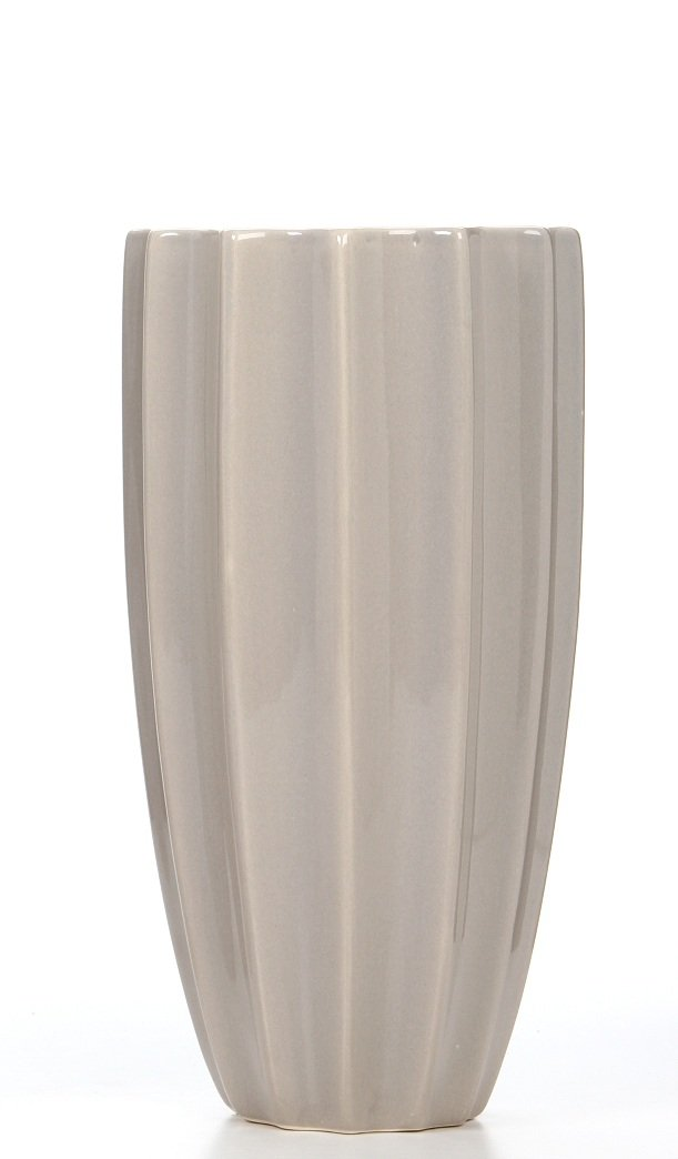 Hosley Geometric Ceramic Vase, Grey, 9.85'' High. Great Urn for Dried Floral Arrangements, Craft Projects, Ideal Gift for Wedding, Special Occasion, Home, Office P2