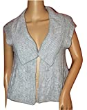 American Rag Women's Sausalito Sweater Vest with Shawl Collar (small, Ivory Gray)