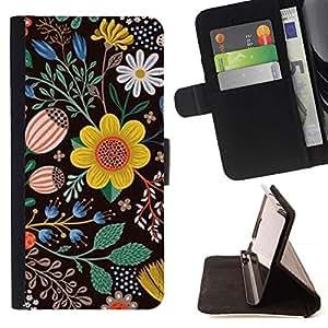 For LG G3 Case , Pintura Dibujo Negro Limpiar- la tarjeta de Crédito Slots PU Funda de cuero Monedero caso cubierta de piel