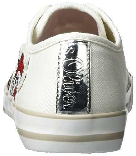 Femme 23639 Basses oliver S Sneakers 100 Blanc white 5tUIOwqd