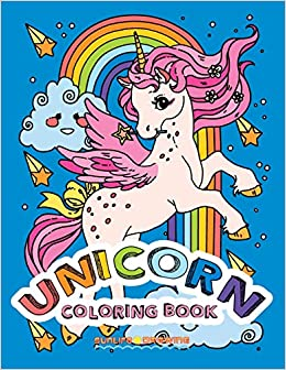 UNICORN Coloring Book: Two sets of 25 Coloring Pages with ...