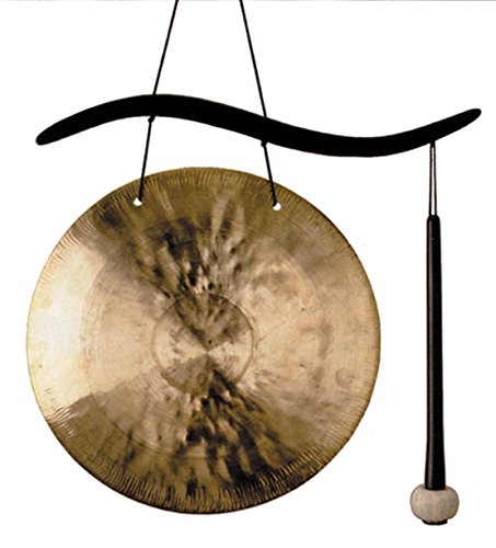 - Woodstock Chimes WCBHG Hanging Gong, Brass and Black