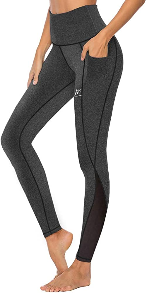 MeetHoo Yoga Pants for Women Cool Dry 3//4 Leggings Gym Compression Tights with Pocket for Sport Running Workout Black