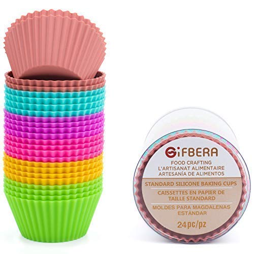 Gifbera Reusable Silicone Cupcake Liners product image