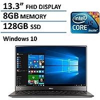 Dell XPS 13 13.3-Inch Laptop(Intel Core i5-6200U Processor, 8GB RAM, 128GB SSD, Backlit Keyboard, Windows 10) (Certified Refurbished)