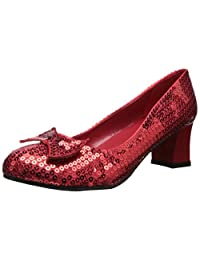 Women's Red Sequin Shoes