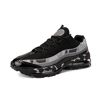 WYX Zapatos de los Hombres Amortiguador de Aire Nuevo otoño Choque Zapatillas de Running Amortiguador Mens Invierno Deportes Zapatos Casual Zapatos,B,46: Amazon.es: Jardín