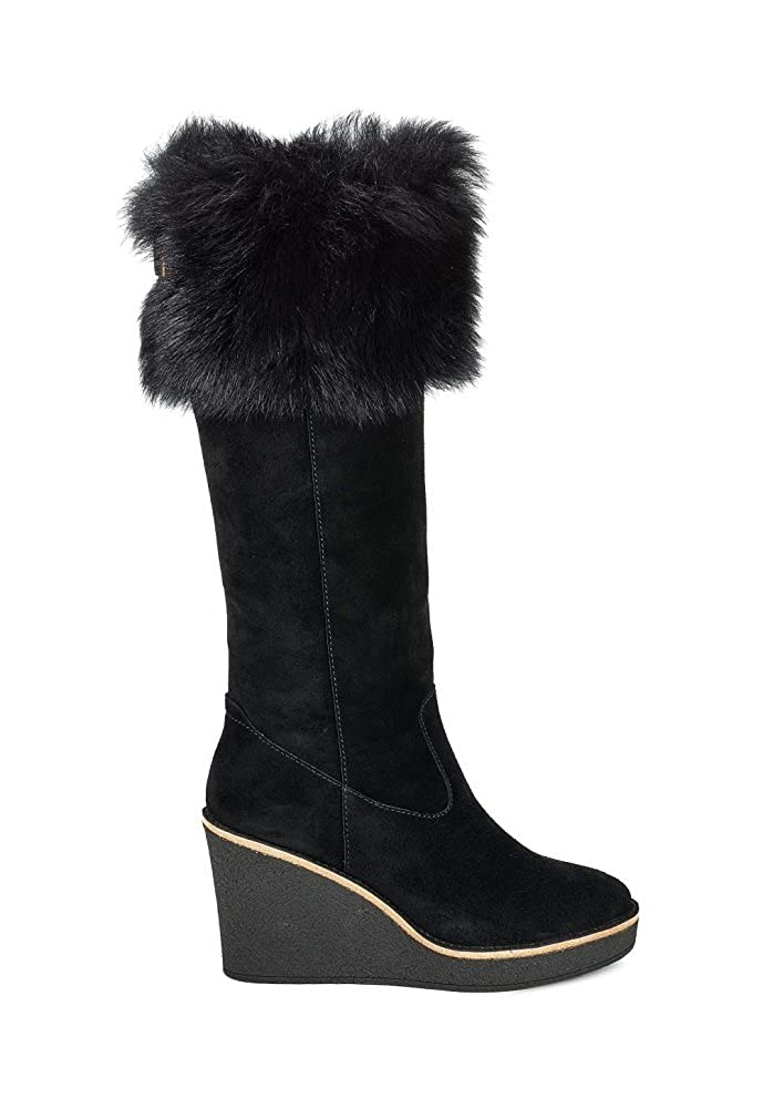 133d9dc8d8e UGG Womens Valberg Suede Wedge Knee-High Boots