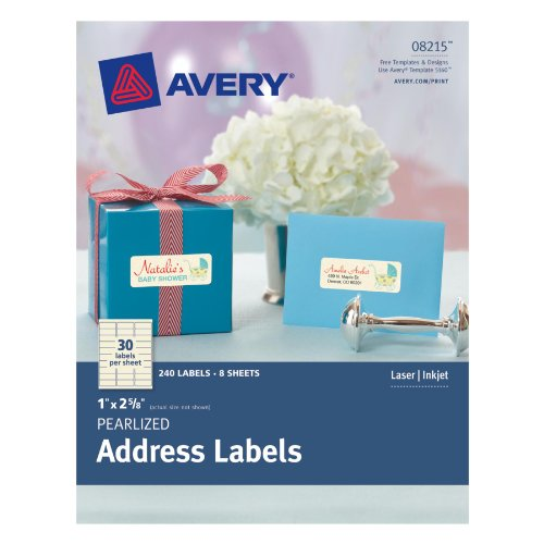 Avery Pearlized Address Labels Pack