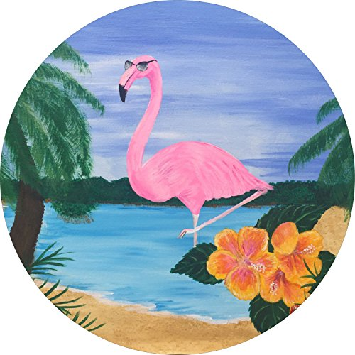 Flamingo Spare Tire Cover for Jeep RV Camper VW Trailer etc(Select popular sizes from drop down menu or contact us-ALL SIZES AVAILABLE)