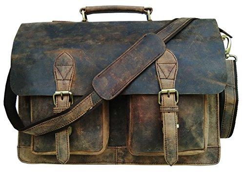 cuero 15 inch Retro Buffalo Hunter Leather Laptop Messenger Bag Office Briefcase College Bag by cuero (Image #1)