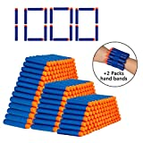 JIMITE TAIKER 1000PCS Refill Darts Bullet with Two Hand Bands for N-Strike Elite Series Blasters Toy Guns for Kids