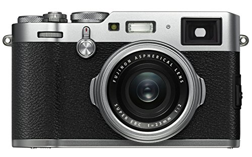 Digital Point And Shoot Film Camera - Fujifilm X100F 24.3 MP APS-C Digital Camera-Silver