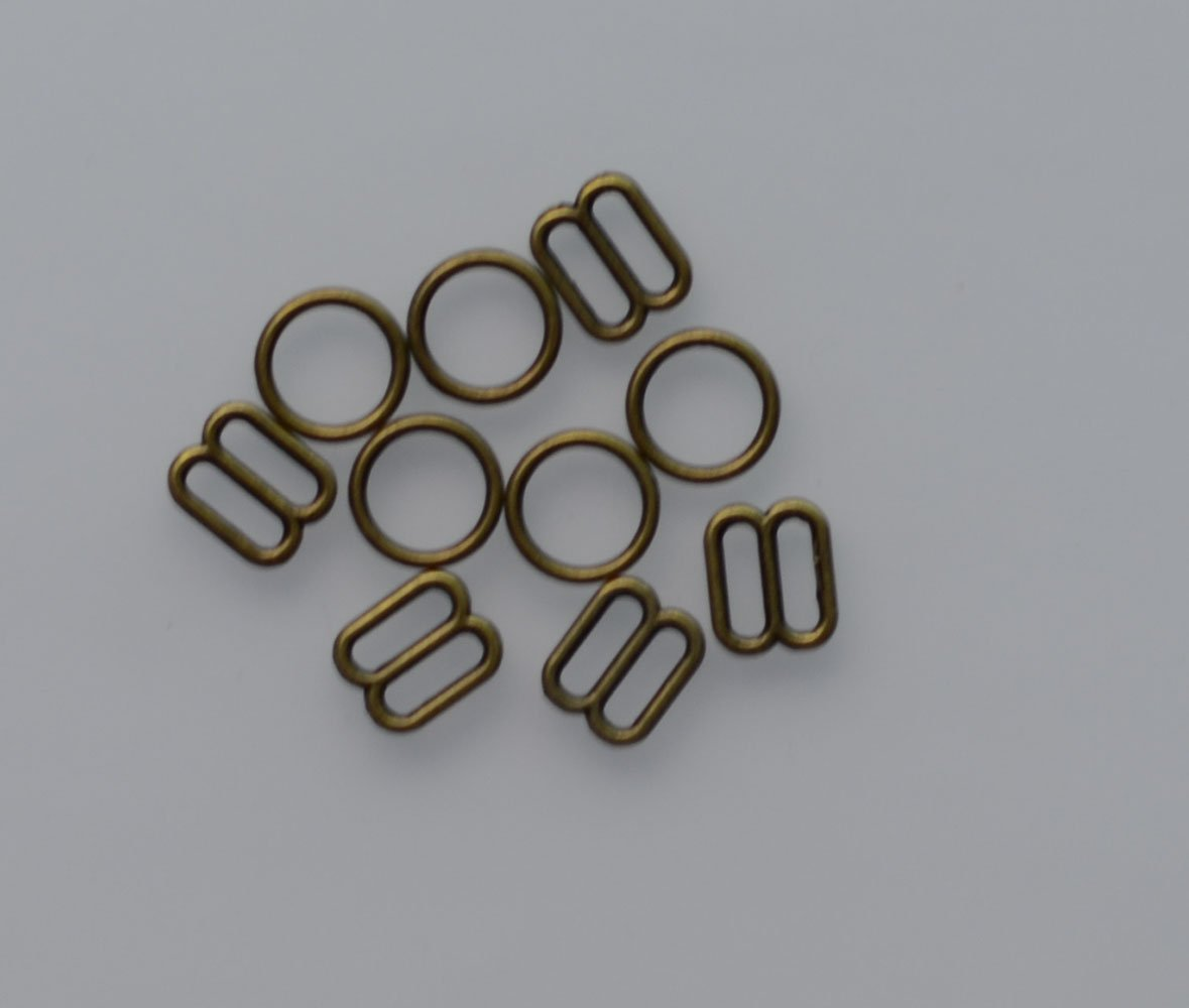 Silver tone, 10mm 3//8 In Lyracces Lots 100pcs Metal Rectangular Figure 8 Shape with 0 Shape Lingerie Adjustment Sliders Adjustors and Rings for Bra Strap Apparel Holder Findings
