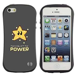 "Pulsar iFace Series Tpu silicona Carcasa Funda Case para Apple iPhone SE / iPhone 5 / iPhone 5S , Estrella Cita Poder Slogan Animation Art"""