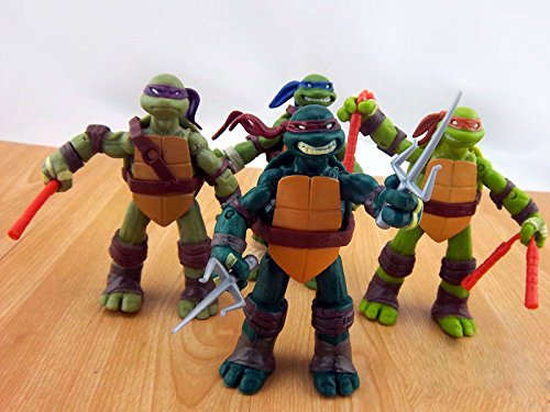 "New Teenage Mutant Ninja Turtles Movie 4.8"" Action Figure TMNT 4pcs/Lot Toys Set"