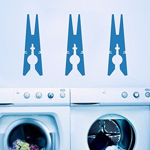 Clothespins - Viny Wall Decals - Laundry Room D¨¦cor White Small