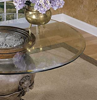 Powell 48 Inch Round Glass Table Top 10mm With 1 Inch Bevel Edge