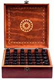Beautiful Essential Oil Storage Box Organizer - Holds 36 Bottles 5-10-15-30ML & 1oz Or 72 Roller Bottles - Free Roller Bottle Opener & 192 EO Labels - Wooden Oil Case Holder