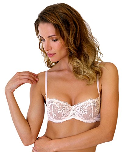 Rosme Womens Soft Cup Balconette Bra, Collection True Romance, Size 38D