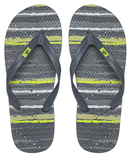 Showaflops Boys' Antimicrobial Shower & Water Sandals for Pool, Beach, Camp and Gym - Morning Fog 4/5