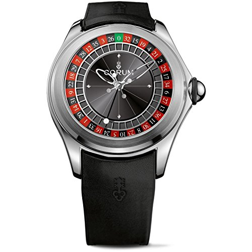 Corum Men's Limeted Edition 288 Bubble Roulette 47mm Rubber Band Automatic Watch 082.310.20/0371 CA01