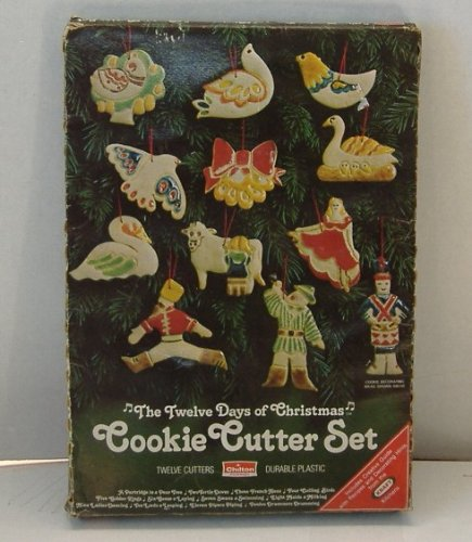 VINTAGE 12 DAYS OF CHRISTMAS COOKIE CUTTERS