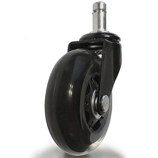 Cuigu - Lote de 5 Cortador Universal de 2,5 Pulgadas con Ruedas para Silla de Oficina: Amazon.es: Hogar