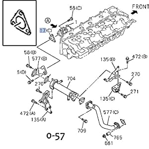 amazon com gasket egr valve to pipe for isuzu npr npr hd nqr 5 2l gasket egr valve to pipe for isuzu npr npr hd nqr 5 2l 4hk1