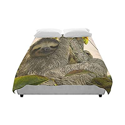 Customize Brushed Fabric Awesome Animal-Sloth Fashion Duvet Cover 86&Quot; X 70&Quot;(One Side Printed) Ad-1057 - 9558683479923