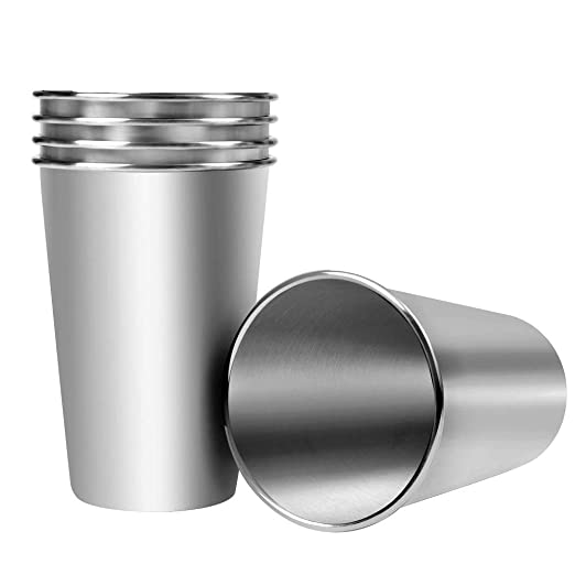 Kaptin 5 unidades 16 oz vasos de pinta de acero inoxidable ...