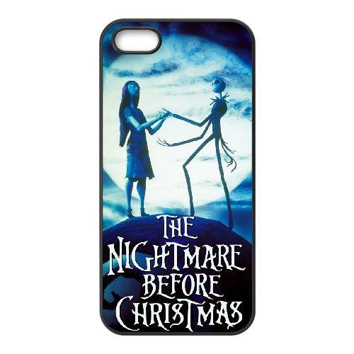 Nightmare Before Christmas 010 coque iPhone 4 4S Housse téléphone Noir de couverture de cas coque EOKXLKNBC20340