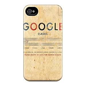 Anti-scratch And Shatterproof Google Classic Phone Case For Iphone 4/4s/ High Quality Tpu Case