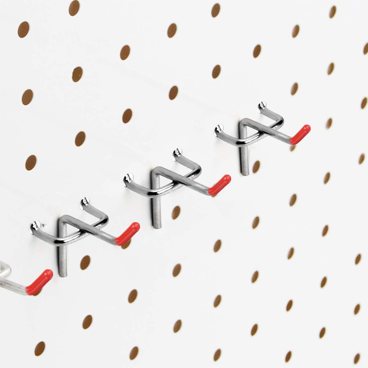 Lote de Ganchos de Metal de 50 mm para Paneles Perforados Bricolaje KING DO WAY 25 piezas de Ganchos para Pizarra